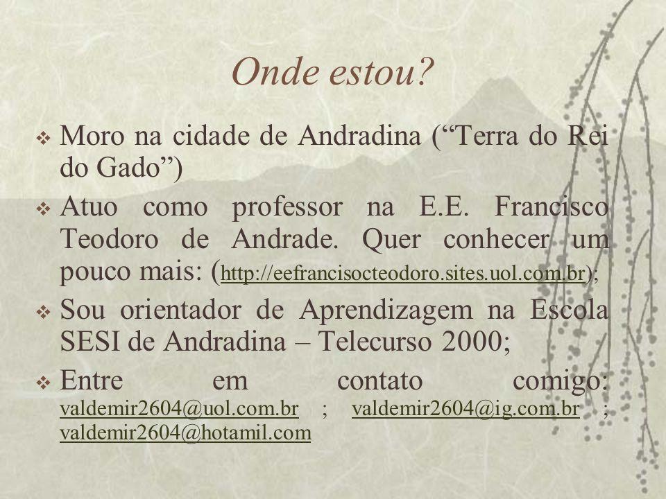 Onde estou Moro na cidade de Andradina ( Terra do Rei do Gado )