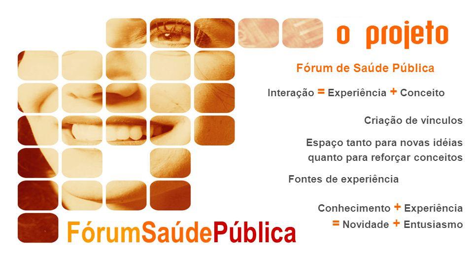 FórumSaúdePública = Novidade + Entusiasmo Fórum de Saúde Pública