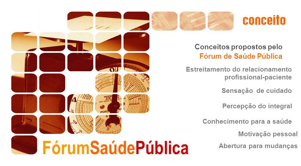 FórumSaúdePública Conceitos propostos pelo Fórum de Saúde Pública
