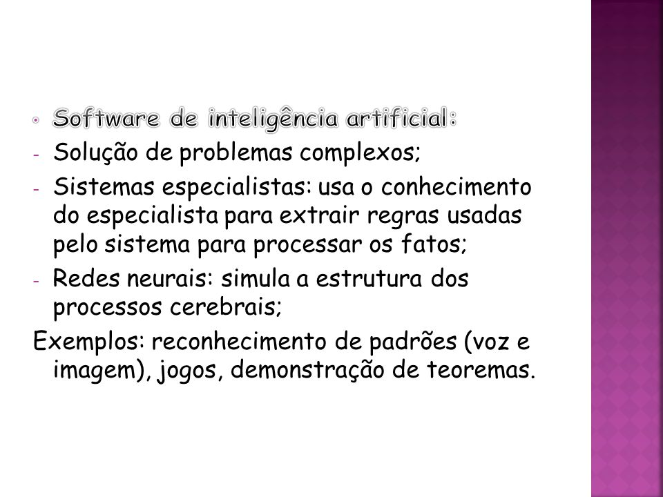 Software de inteligência artificial: