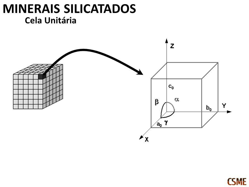 MINERAIS SILICATADOS Cela Unitária