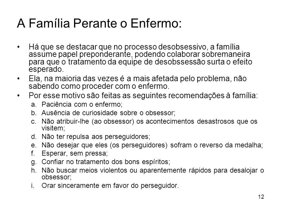 A Família Perante o Enfermo: