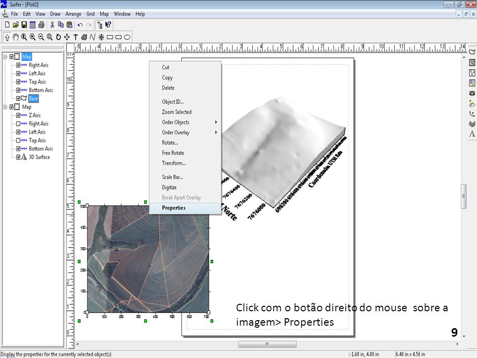 Click com o botão direito do mouse sobre a imagem> Properties