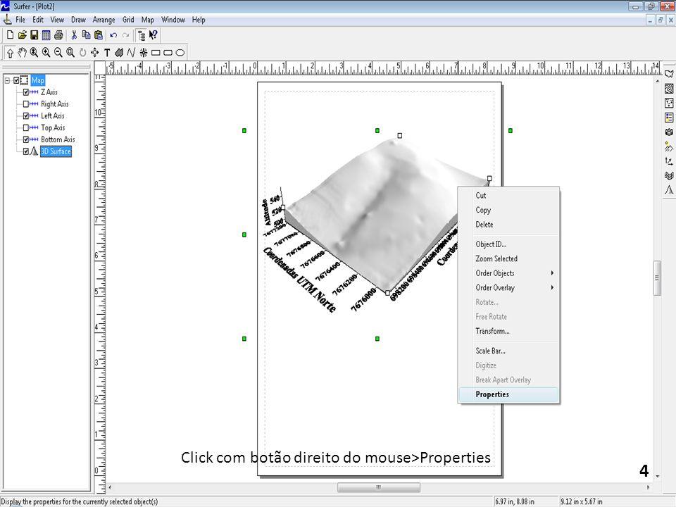 Click com botão direito do mouse>Properties