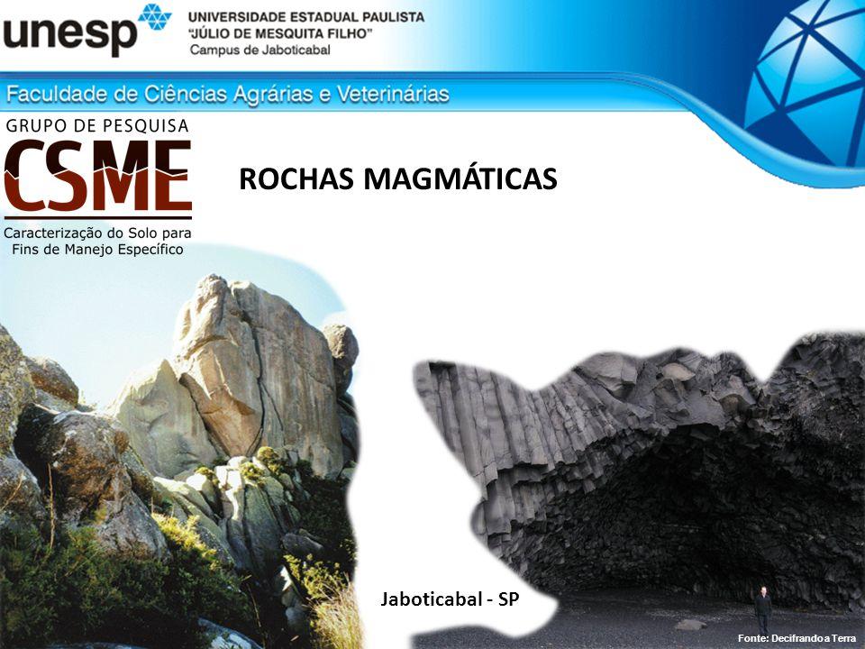 ROCHAS MAGMÁTICAS Jaboticabal - SP Fonte: Decifrando a Terra