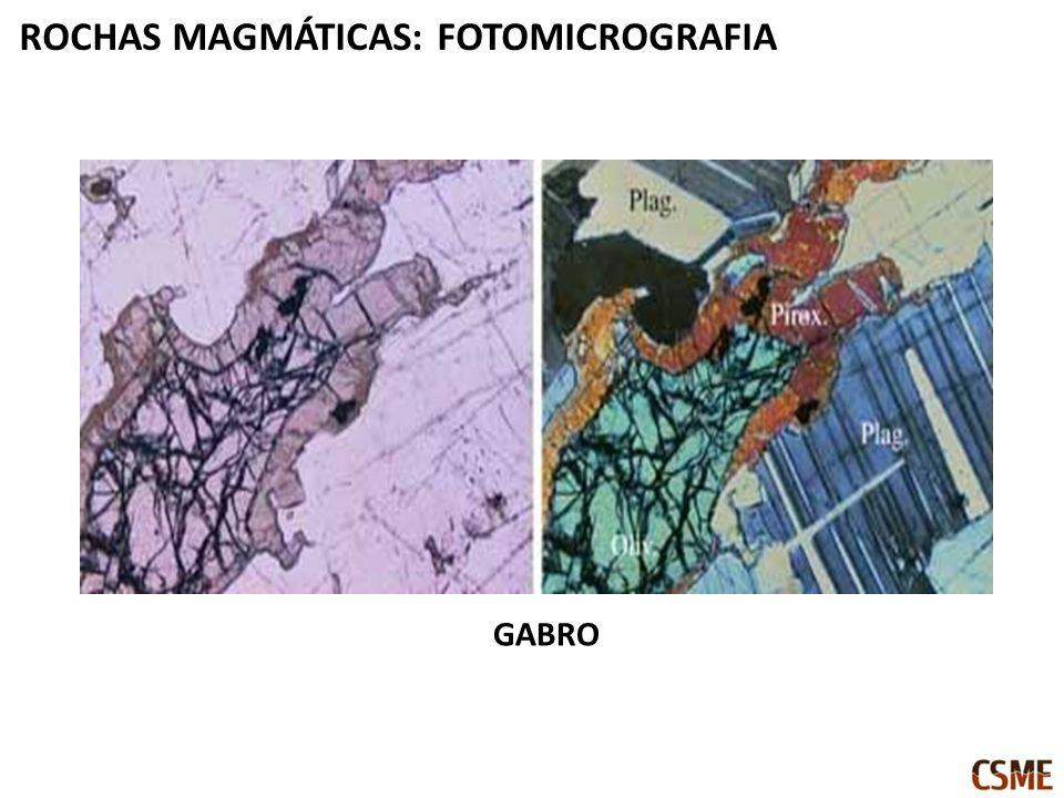 ROCHAS MAGMÁTICAS: FOTOMICROGRAFIA