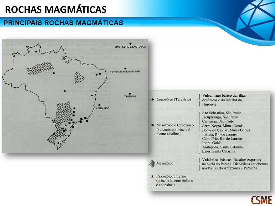 ROCHAS MAGMÁTICAS PRINCIPAIS ROCHAS MAGMÁTICAS