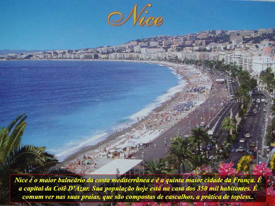 Nice é o maior balneário da costa mediterrânea e é a quinta maior cidade da França.