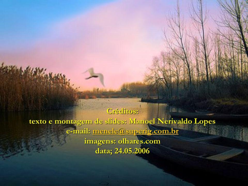 Créditos: texto e montagem de slides: Manoel Nerivaldo Lopes e-mail: menele@superig.com.br imagens: olhares.com data; 24.05.2006