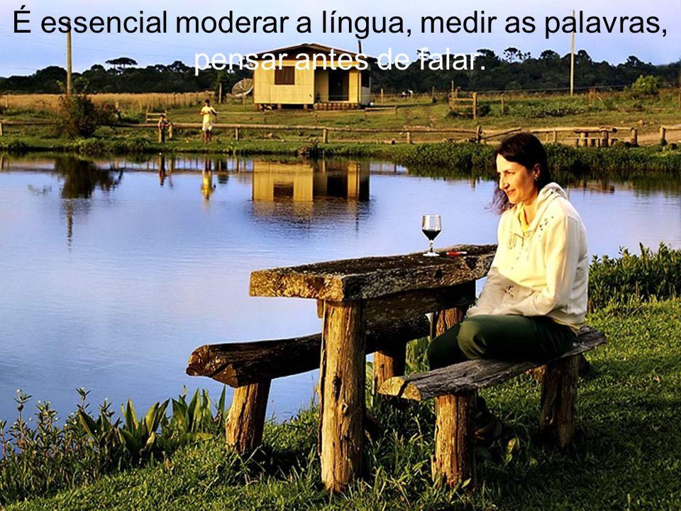 É essencial moderar a língua, medir as palavras, pensar antes de falar.