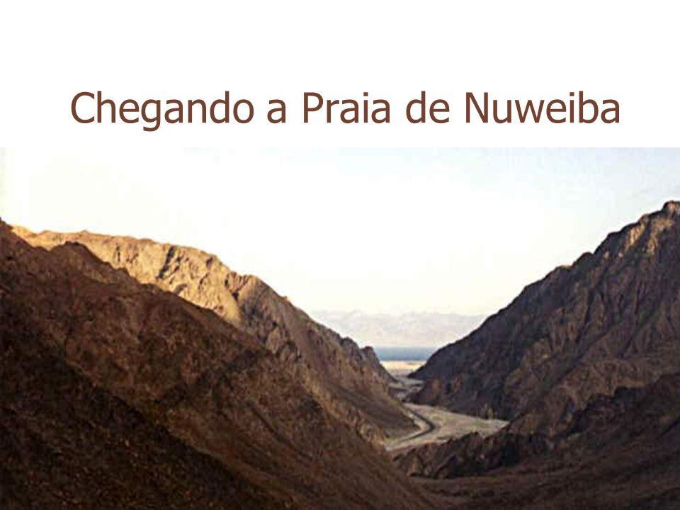Chegando a Praia de Nuweiba