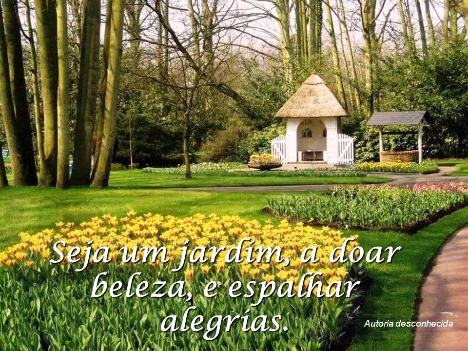 Seja um jardim, a doar beleza, e espalhar alegrias.