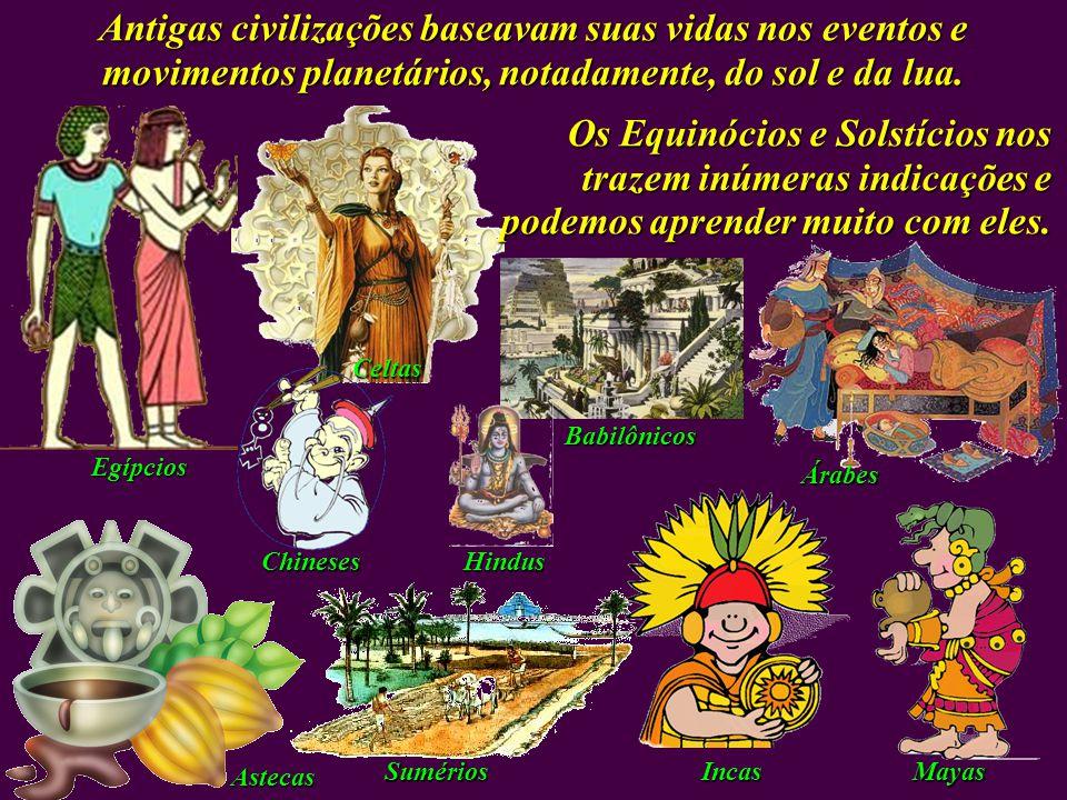 Antigas civilizações baseavam suas vidas nos eventos e movimentos planetários, notadamente, do sol e da lua.
