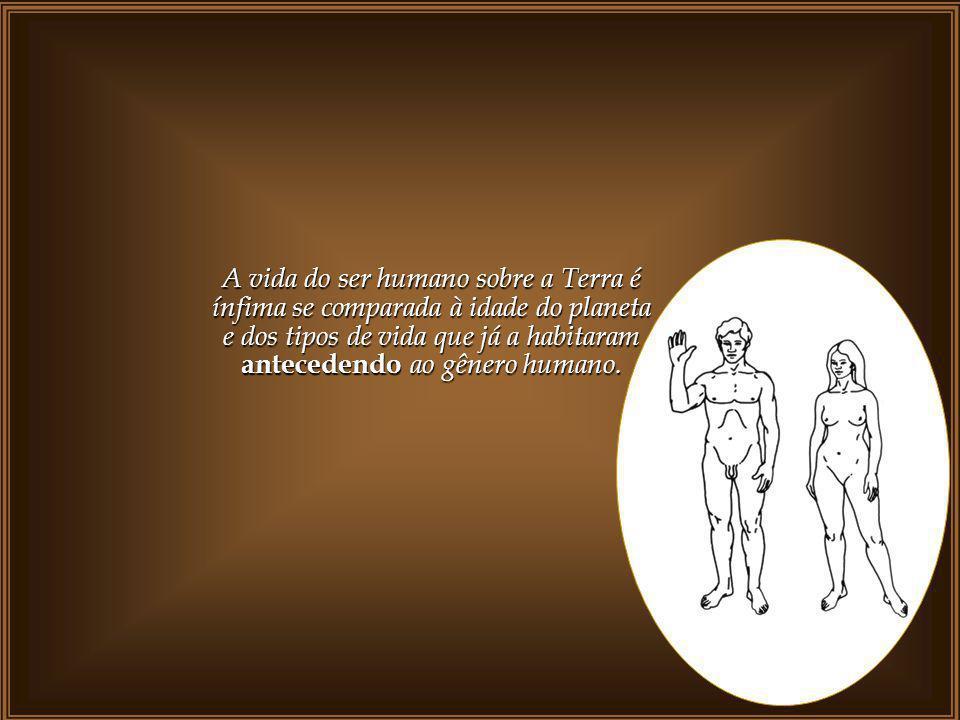 A vida do ser humano sobre a Terra é ínfima se comparada à idade do planeta e dos tipos de vida que já a habitaram antecedendo ao gênero humano.