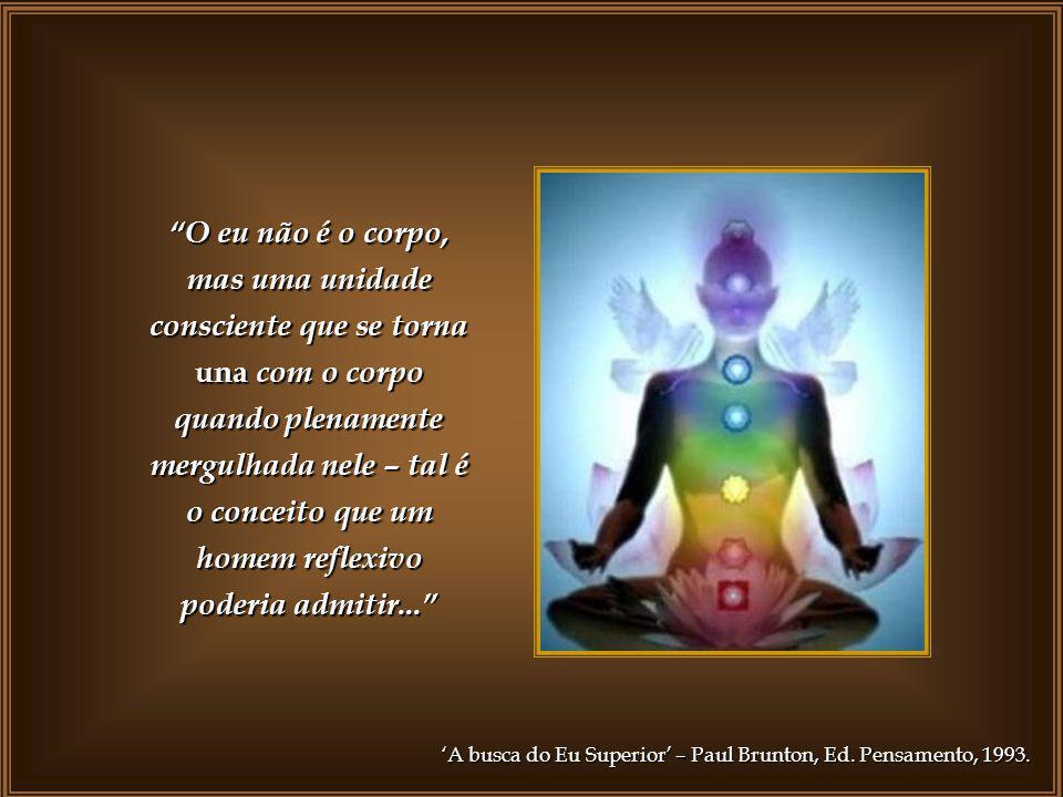 O eu não é o corpo, mas uma unidade consciente que se torna una com o corpo quando plenamente mergulhada nele – tal é o conceito que um homem reflexivo poderia admitir...