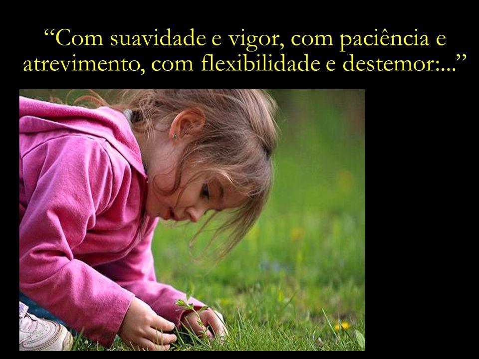 Com suavidade e vigor, com paciência e atrevimento, com flexibilidade e destemor:...