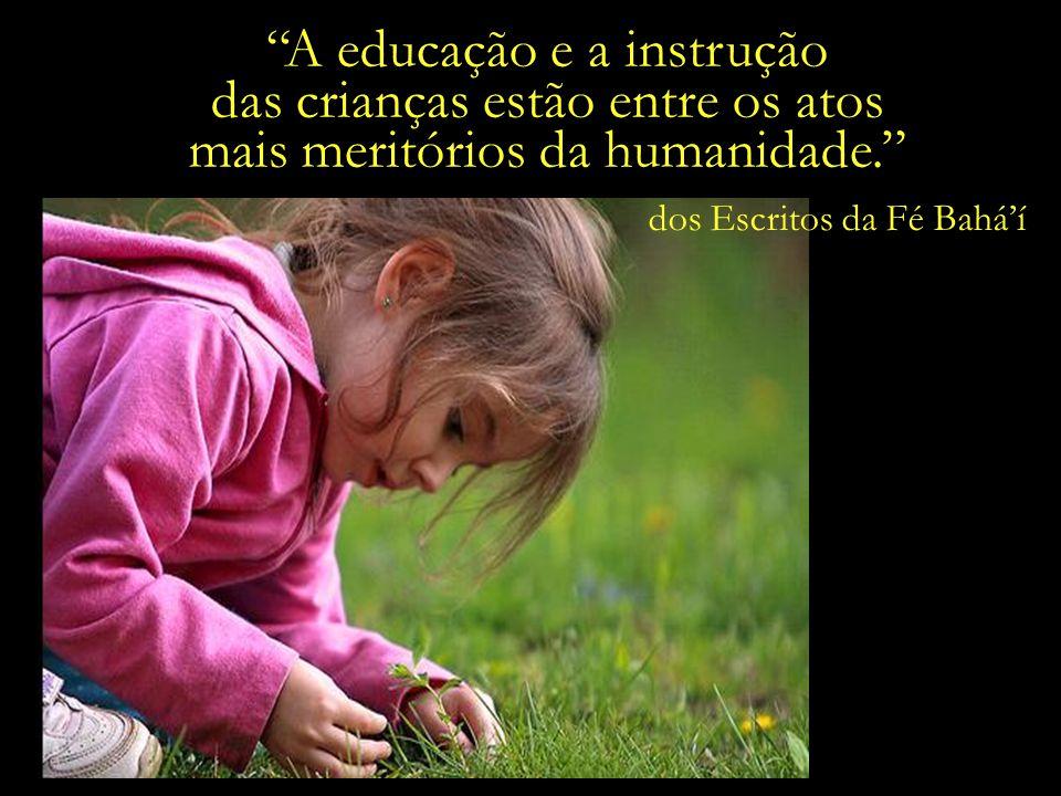 A educação e a instrução das crianças estão entre os atos
