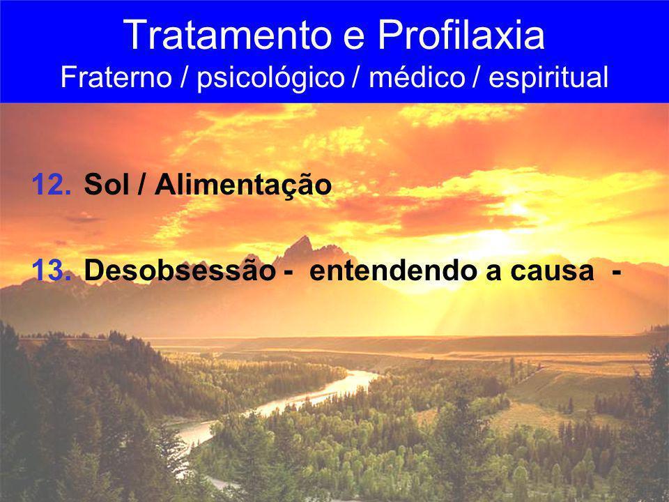 Tratamento e Profilaxia Fraterno / psicológico / médico / espiritual