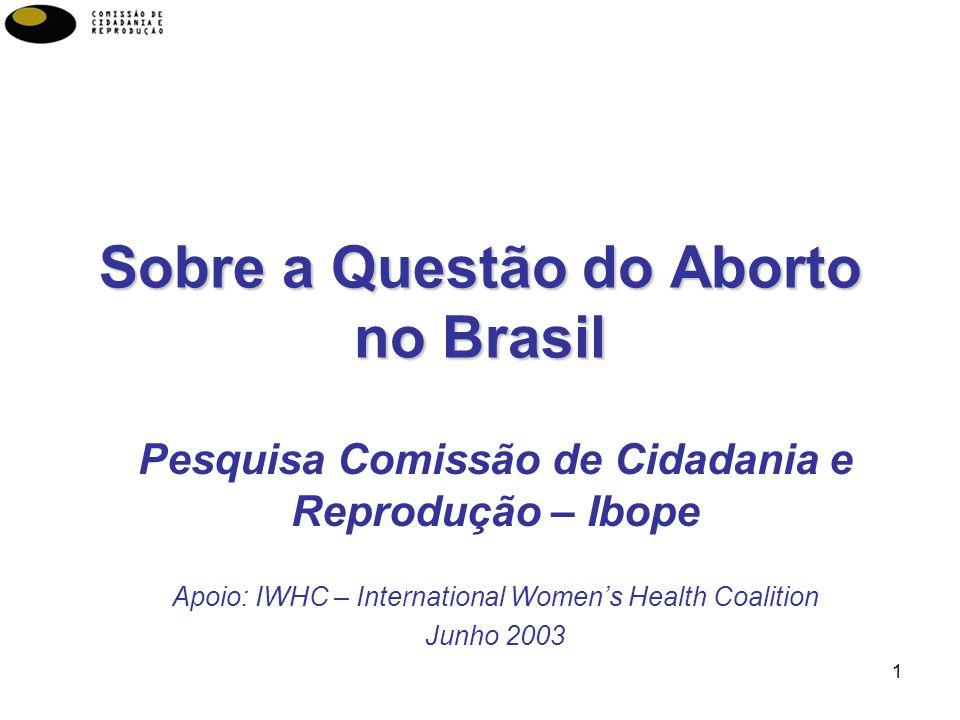 Sobre a Questão do Aborto no Brasil