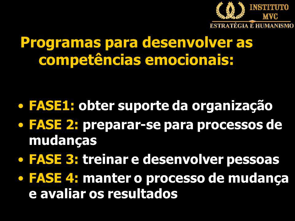 Programas para desenvolver as competências emocionais: