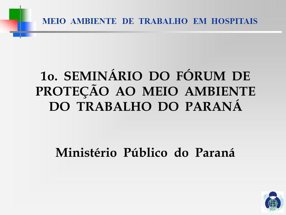 1o. SEMINÁRIO DO FÓRUM DE PROTEÇÃO AO MEIO AMBIENTE