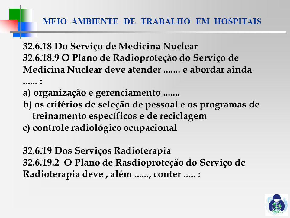 32.6.18 Do Serviço de Medicina Nuclear