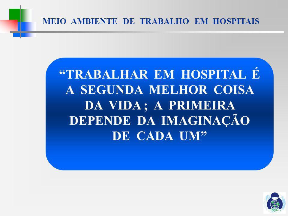TRABALHAR EM HOSPITAL É A SEGUNDA MELHOR COISA DA VIDA ; A PRIMEIRA DEPENDE DA IMAGINAÇÃO DE CADA UM