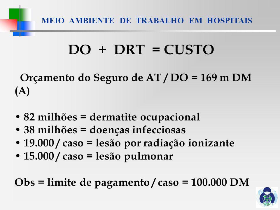 DO + DRT = CUSTO Orçamento do Seguro de AT / DO = 169 m DM (A)