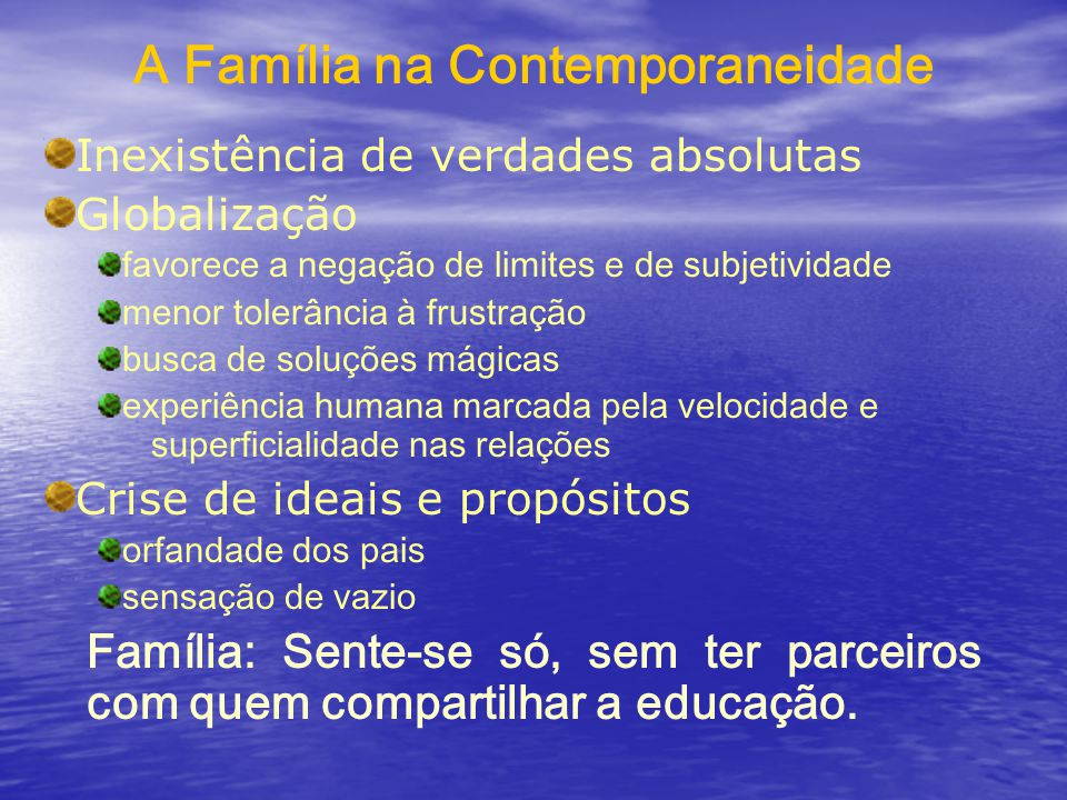 A Família na Contemporaneidade
