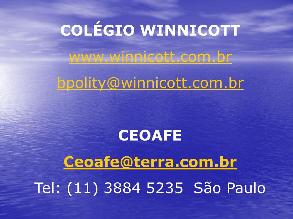 COLÉGIO WINNICOTT www.winnicott.com.br. bpolity@winnicott.com.br.