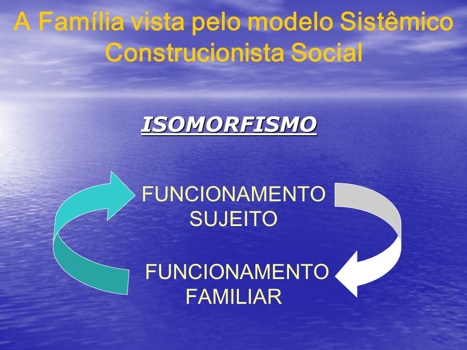A Família vista pelo modelo Sistêmico Construcionista Social