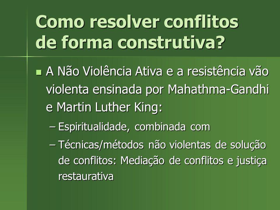 Como resolver conflitos de forma construtiva