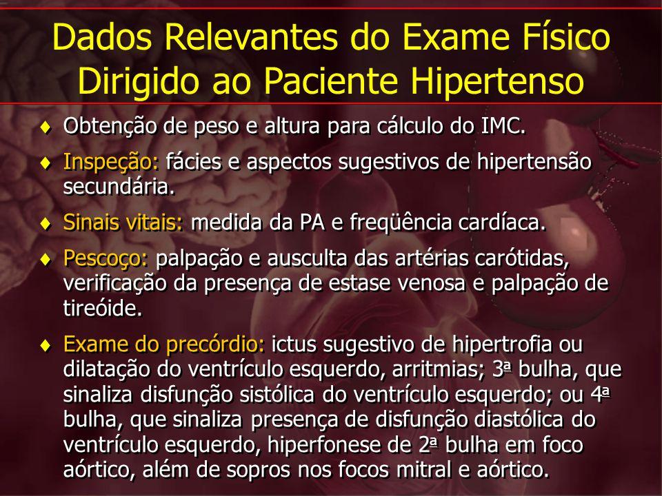 Dados Relevantes do Exame Físico Dirigido ao Paciente Hipertenso