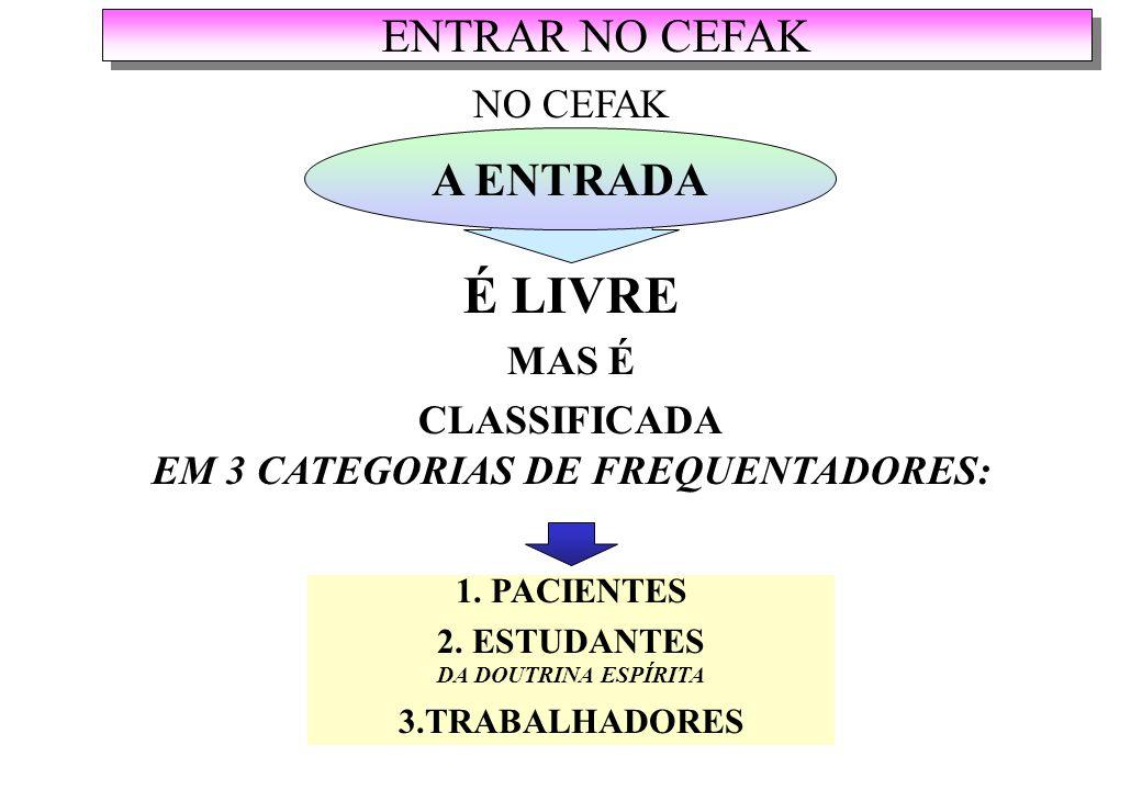 EM 3 CATEGORIAS DE FREQUENTADORES: 2. ESTUDANTES DA DOUTRINA ESPÍRITA