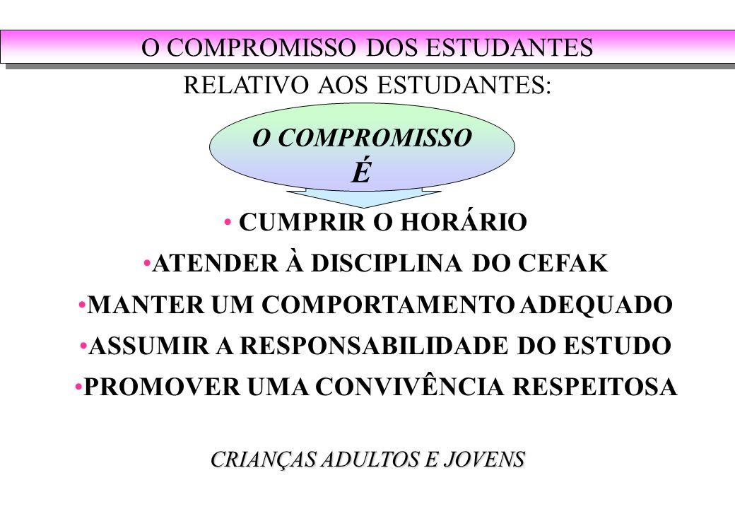 É O COMPROMISSO DOS ESTUDANTES RELATIVO AOS ESTUDANTES: O COMPROMISSO
