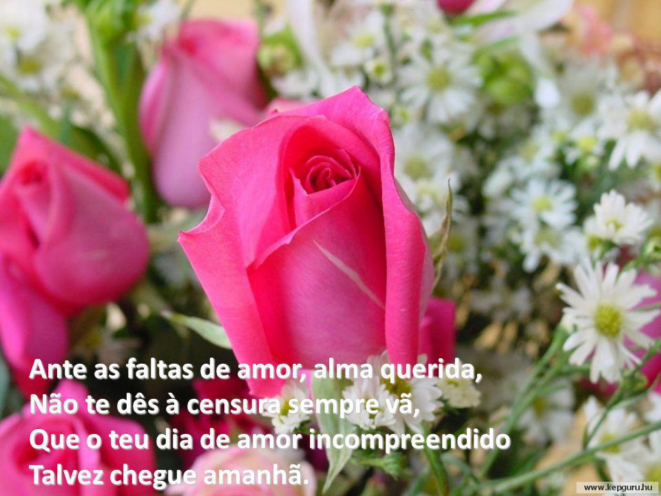 Ante as faltas de amor, alma querida,