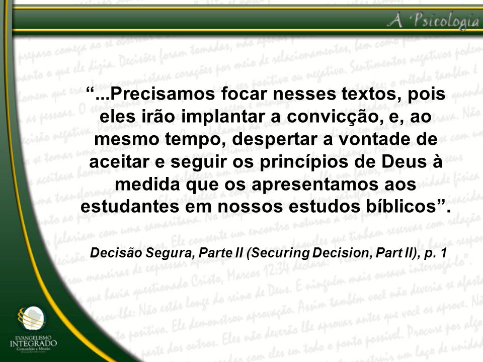 Decisão Segura, Parte II (Securing Decision, Part II), p. 1