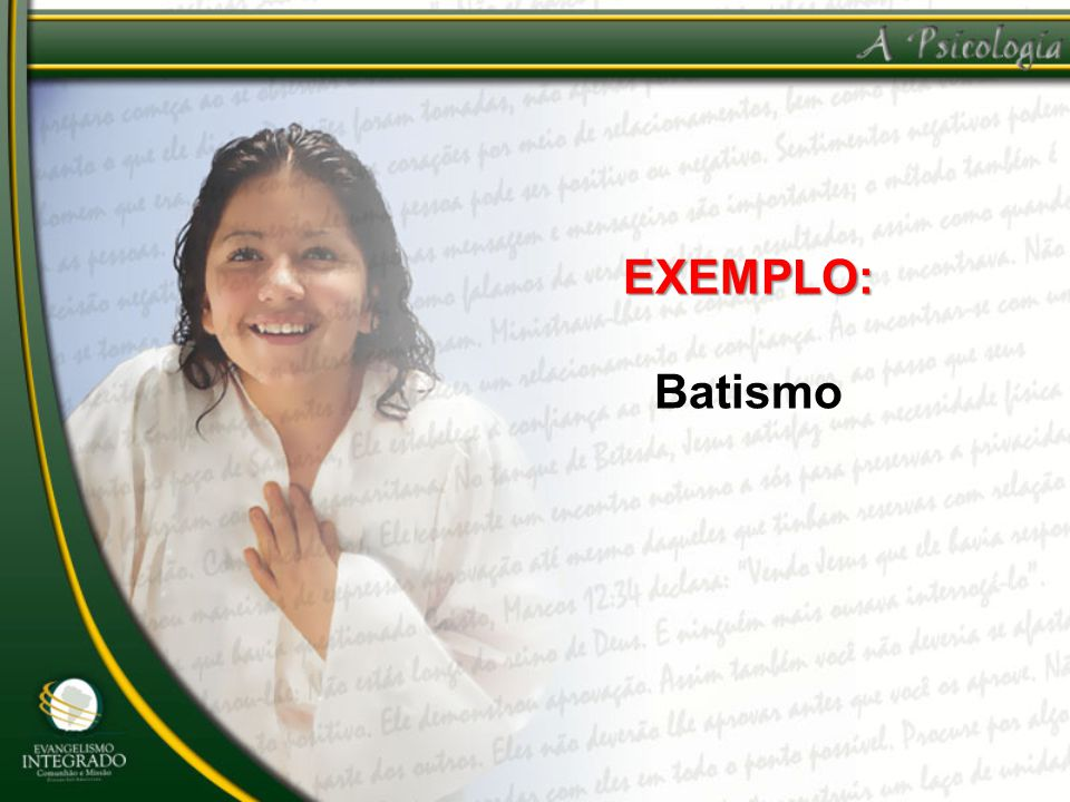 EXEMPLO: Batismo