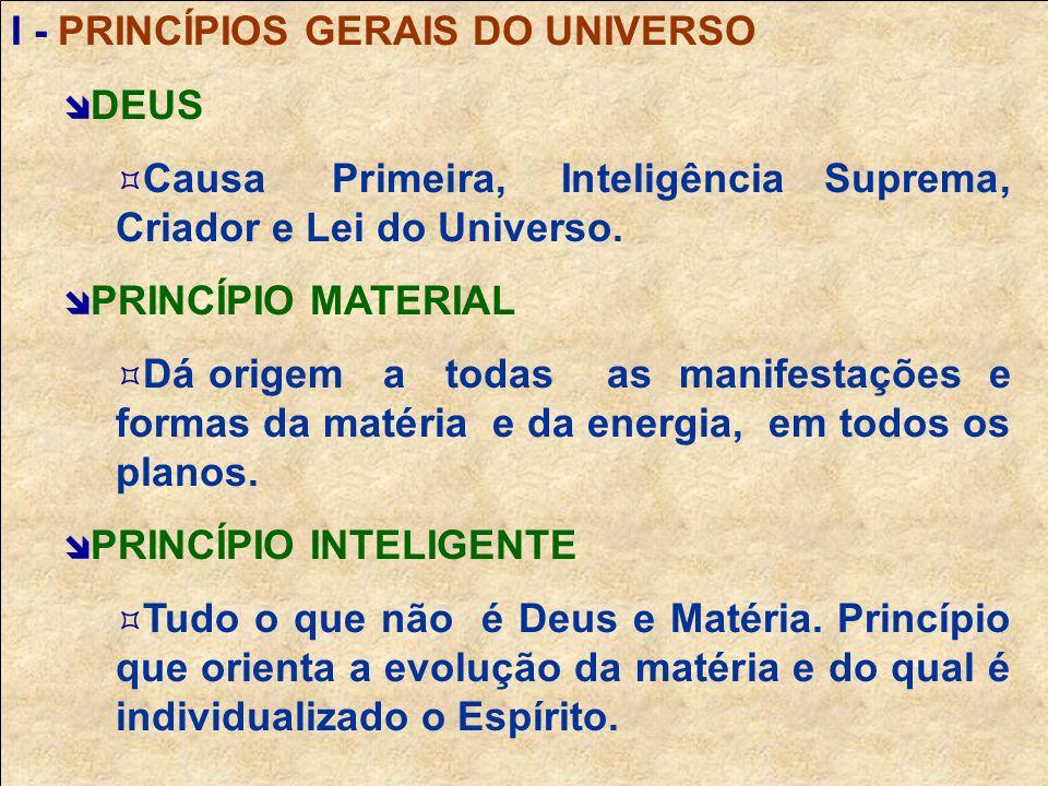 I - PRINCÍPIOS GERAIS DO UNIVERSO