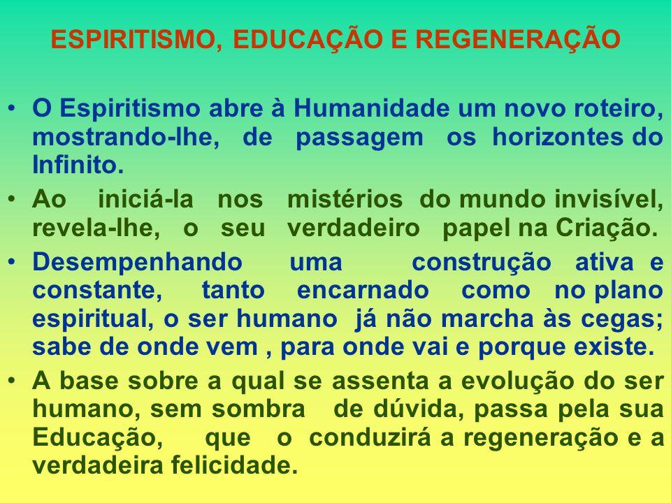 ESPIRITISMO, EDUCAÇÃO E REGENERAÇÃO