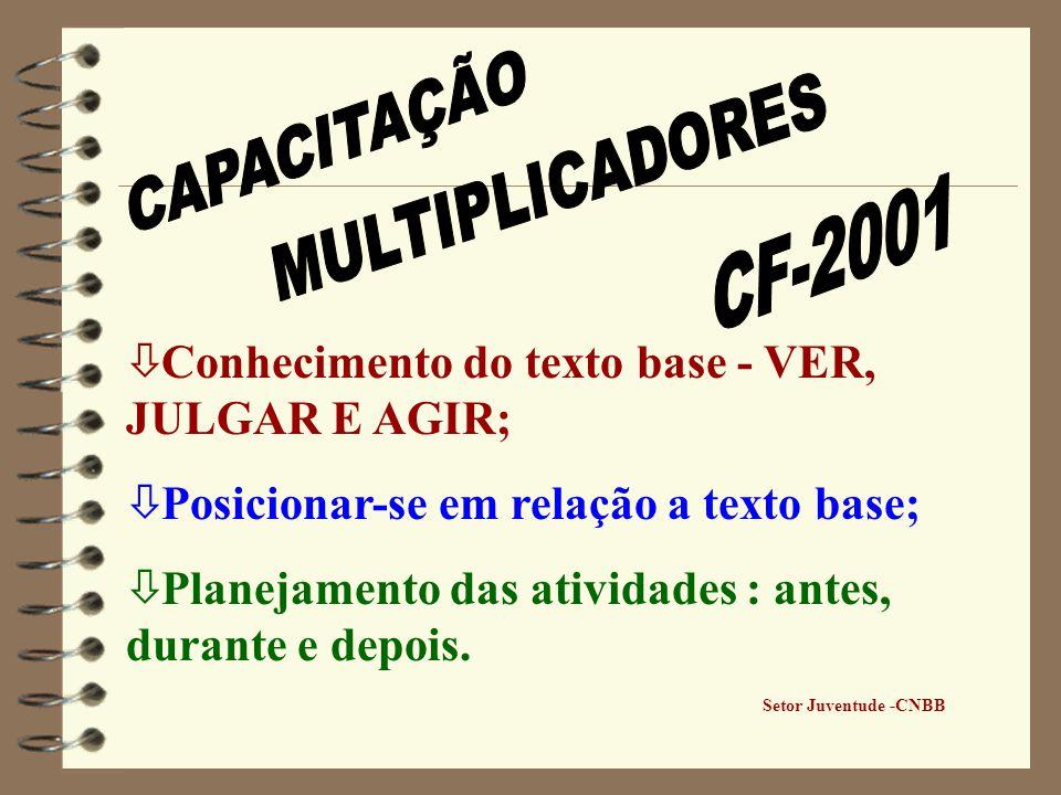 CAPACITAÇÃO MULTIPLICADORES CF-2001