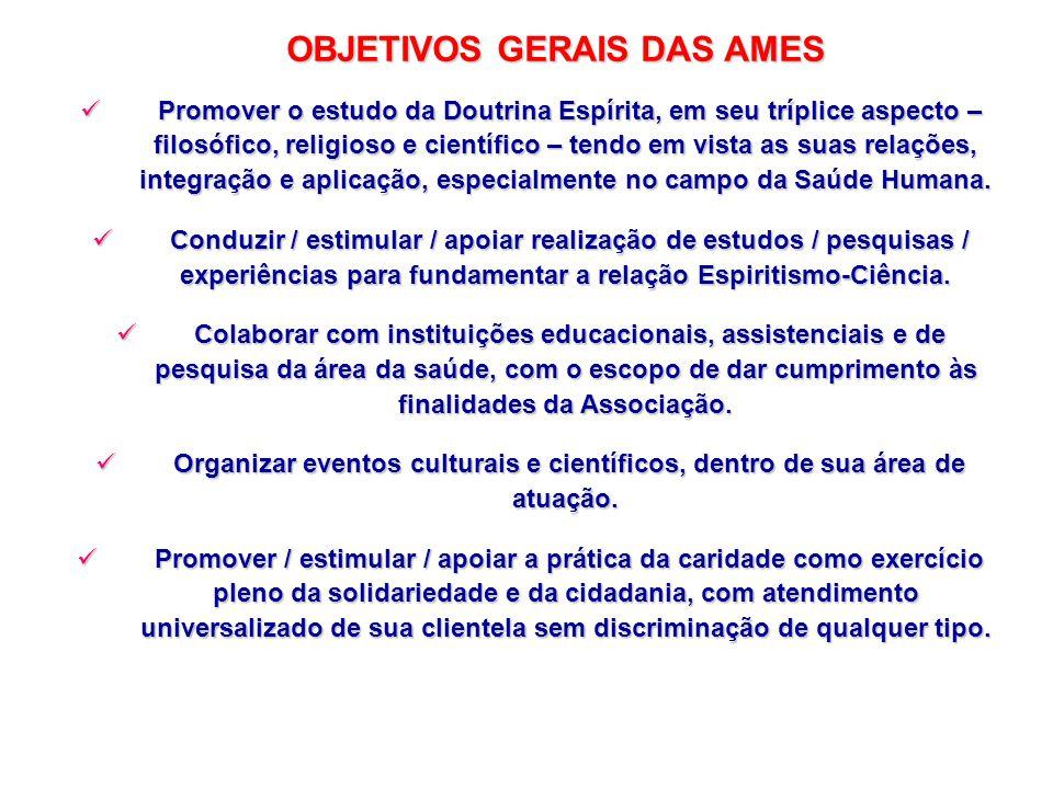 OBJETIVOS GERAIS DAS AMES