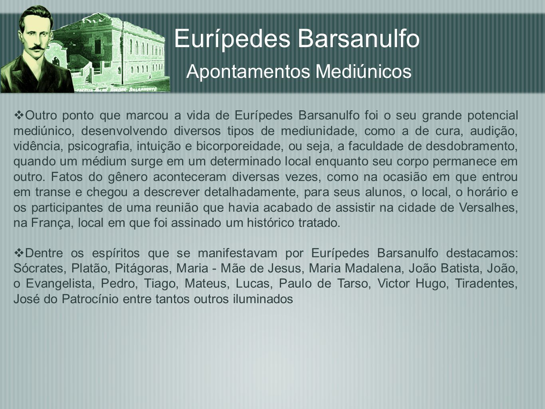 Eurípedes Barsanulfo Apontamentos Mediúnicos