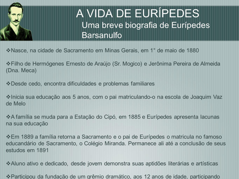 A VIDA DE EURÍPEDES Uma breve biografia de Eurípedes Barsanulfo