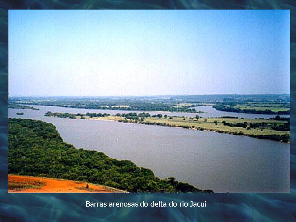 Barras arenosas do delta do rio Jacuí