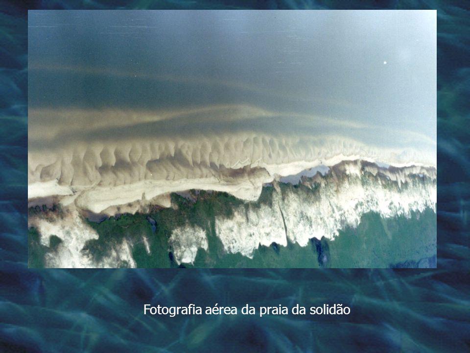 Fotografia aérea da praia da solidão