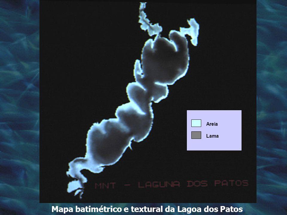 Mapa batimétrico e textural da Lagoa dos Patos