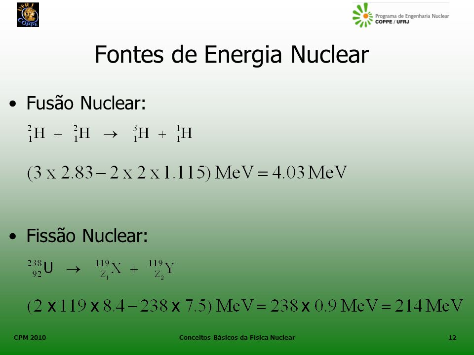 Fontes de Energia Nuclear