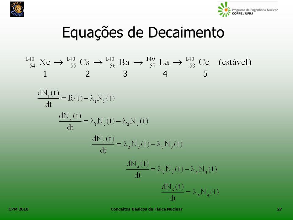 Equações de Decaimento