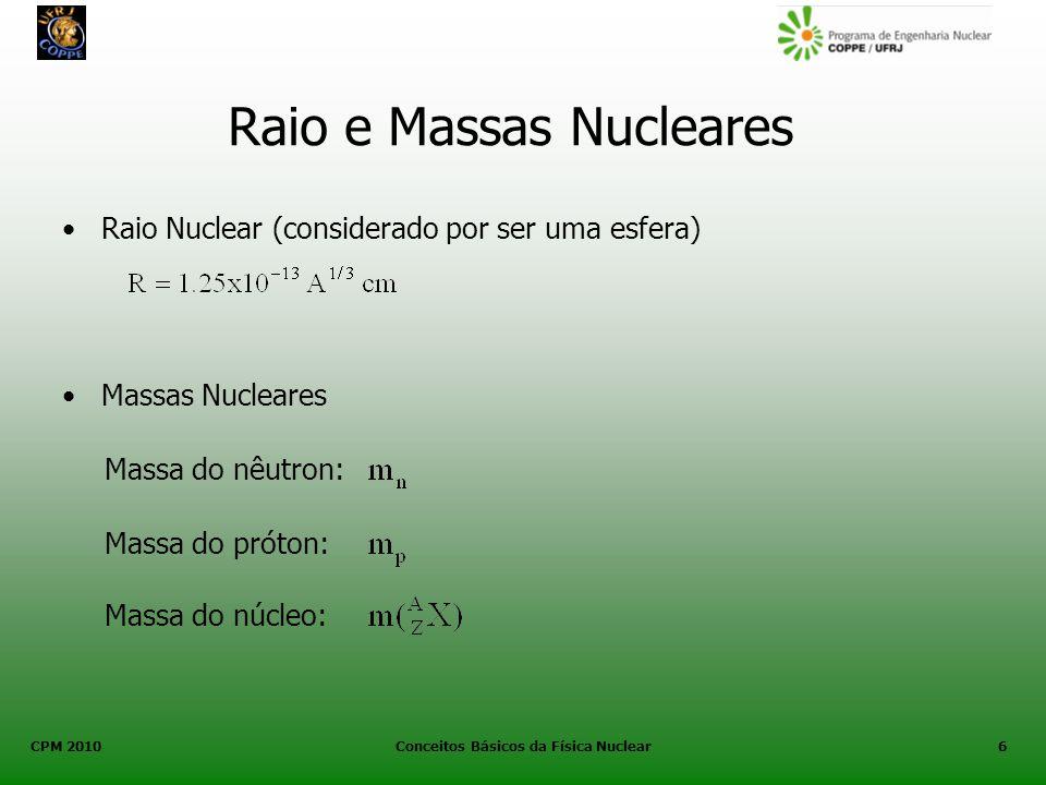 Raio e Massas Nucleares